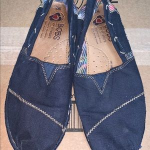 Bobs From Sketchers Canvas Chill Blue Plaid Flats